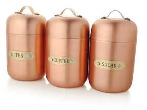 copper canister set kitchen coolest 17 stainless steel canisters