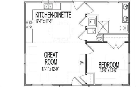 bedroom plan  cottage plans guest house  bedroom open floor small home  simple luxury