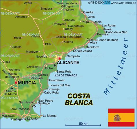map  costa blanca region  spain welt atlasde