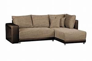 L Couch Mit Schlaffunktion : sofagarnitur in l form corona bison couch ohne federkern ecksofa mit schlaffunktion und ~ Markanthonyermac.com Haus und Dekorationen