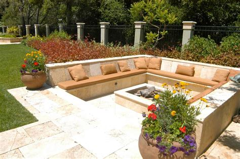 pit seating firepit seating design decoration