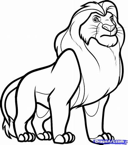 Lion King Drawings Clip Cartoon Neo Coloring