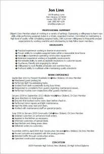 crew member resume skills transportationscrew resume sales crew lewesmr