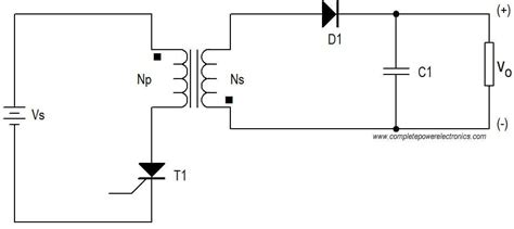 Flyback Converter Working Principle Power Electronics
