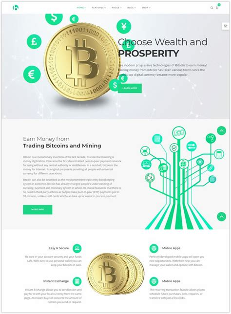 Modern flat design of cryptocurrency exchange and bitcoin mining. 16+ Best Cryptocurrency & Bitcoin Website Templates 2018 - Templatefor