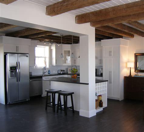 coastal warehouse loft beach style kitchen