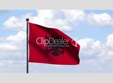Animierte Flagge von Albanien Royaltyfree video and
