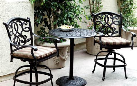 Bistro Patio Furniture by Patio Furniture Bistro Set Cast Aluminum 30 Quot