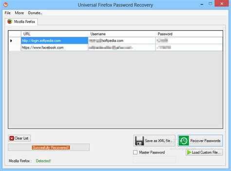 Download Universal Firefox Password Recovery 1.0 Incl