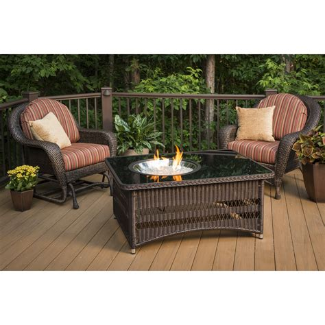 Montego fire table package includes: The Outdoor GreatRoom Company Naples Coffee Table with ...