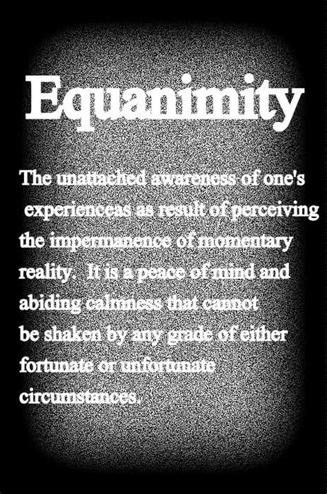 equanimity    favorite words words words