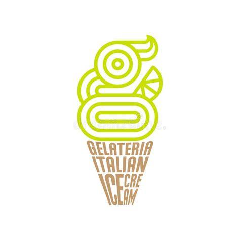 logo  gelateria emblema italiano del gelato monogramma    il gelato composizione