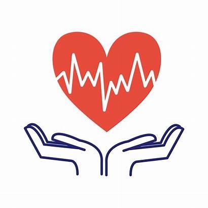 Heart Care Symbol Health Plan Month Illustration