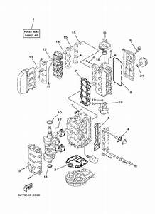 2004 yamaha repair kit 1 parts for 50 hp f50tlrc outboard With diagram of 2004 f40tlrc yamaha outboard electrical 2 diagram and parts