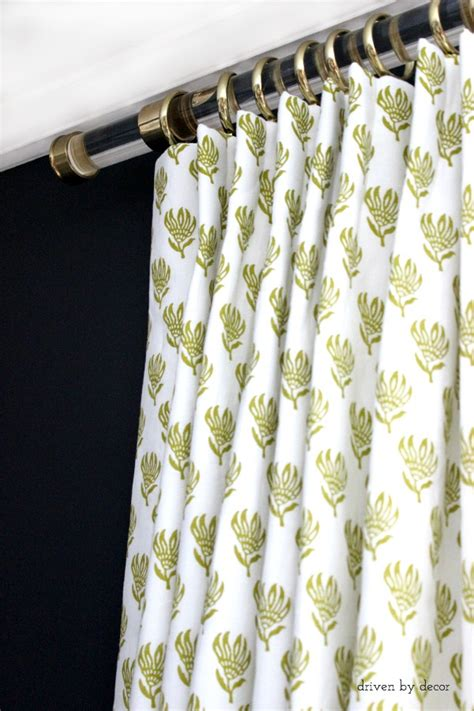 acrylic drapery rods acrylic curtain rods with brass hardware driven by decor