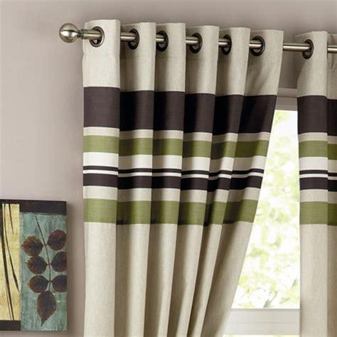 green striped curtain panels curtina harvard stripe print eyelet lined curtains ebay