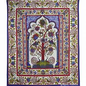 White Tree Of Life Dorm Room Decor Hippie Tapestry Wall ...
