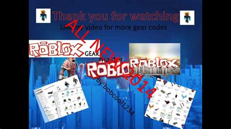 All New 2014 Roblox Gear Codes 500+
