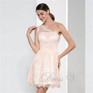 cheap one shoulder lace short bridesmaid dresses 2016 plus With wedding maid of honor dresses