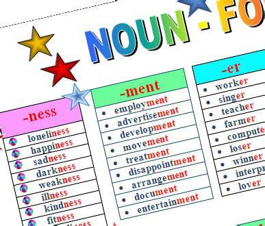 noun forming suffixes worksheet