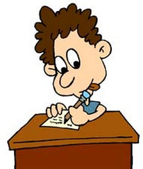 students writing clipart reader write i