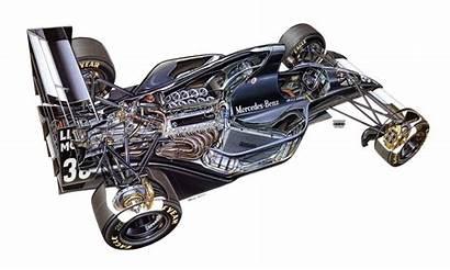 Cutaway Sauber F1 1993 C12 Formula Engine