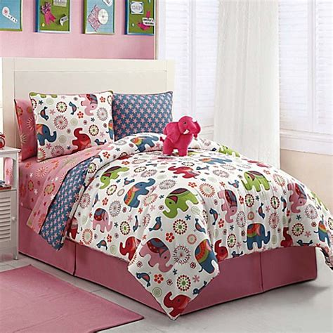 buy elephant reversible full comforter set from bed bath
