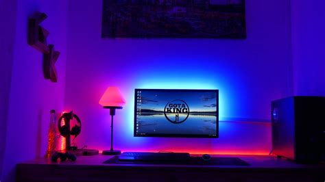 led lights for gaming setup make any desk set up awesome l e d like my setup