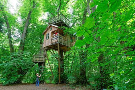 decouvrez la cabane dans les arbres pour une nuit insolites