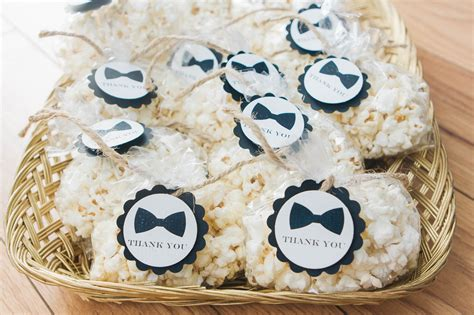 Bow Tie Baby Shower Favors Crowned Creations