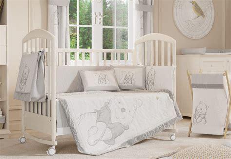 4 piece unisex gray winnie the pooh baby crib bedding cot