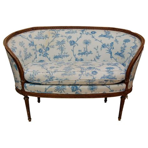 louis xv style beechwood canape at 1stdibs