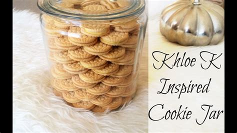 Oreo Cookie Jar Khloe Kardashian Diy Khloe K Inspired Cookie Jar Youtube