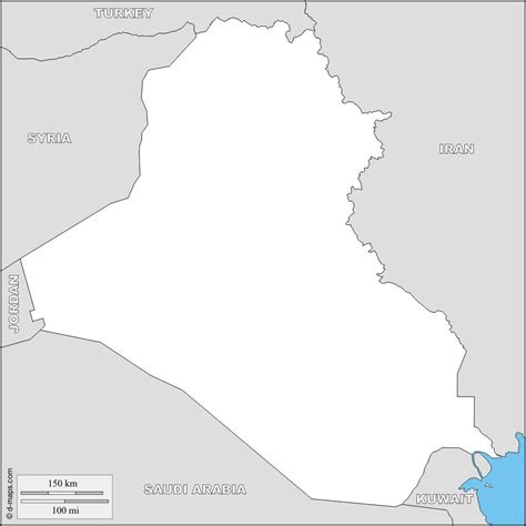 Iraq Blank Map Map Of Iraq Blank Western Asia Asia