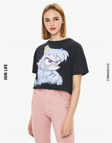 aladdin print  shirt   bershka south korea