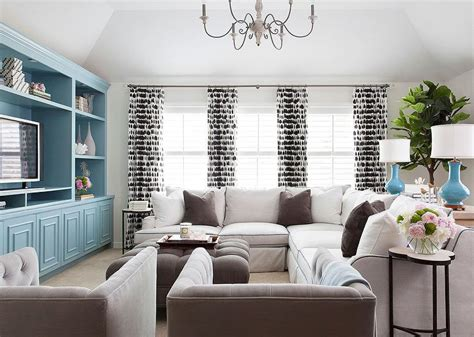 Living Room Accents Ideas by White And Brown Living Room With Blue Accents