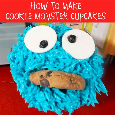 cookie monster cupcakes  sisters crafting