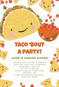 Housewarming Party Invitations Template Free Taco Bout Birthday Invitation Template Free