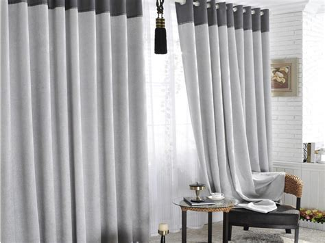 Cool Grey And White Blackout Curtains & Gray Curtains