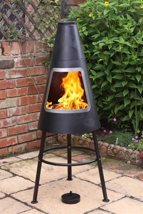 orno steel chimenea garden incinerator fire basket brazier