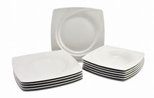 Geschirr Eckig Weiß : 24lg tafelservice celebration 12 personen geschirr tafel service eckig wei ebay ~ Whattoseeinmadrid.com Haus und Dekorationen