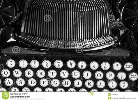 black and white vintage typewriter macro letters 8 x 12 antique typewriter showing traditional typebars v stock 44059