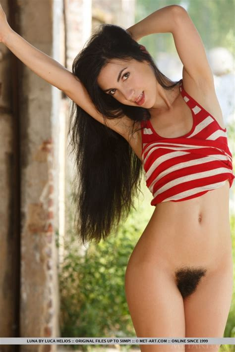 Beautiful Babe With A Hairy Pussy
