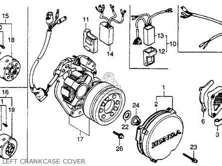honda cr250r elsinore 1989 k usa parts lists and schematics