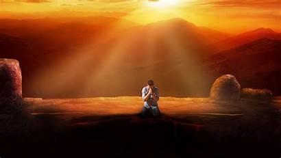 Prayer Faith Sunset Background 720p Hdv