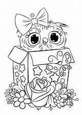 Owl Coloring Tulamama Easy Animal Disney Cartoon Preschool Printables Monster sketch template