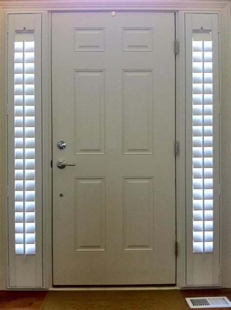 side light shades entry door sidelight window shutters cleveland shutters