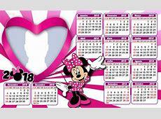 Calendario 2018 da Minnie Rosa