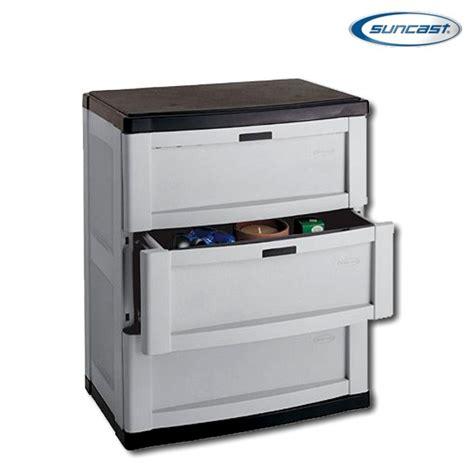 suncast plastic storage cabinets suncast c3703g 3 drawer base cabinet