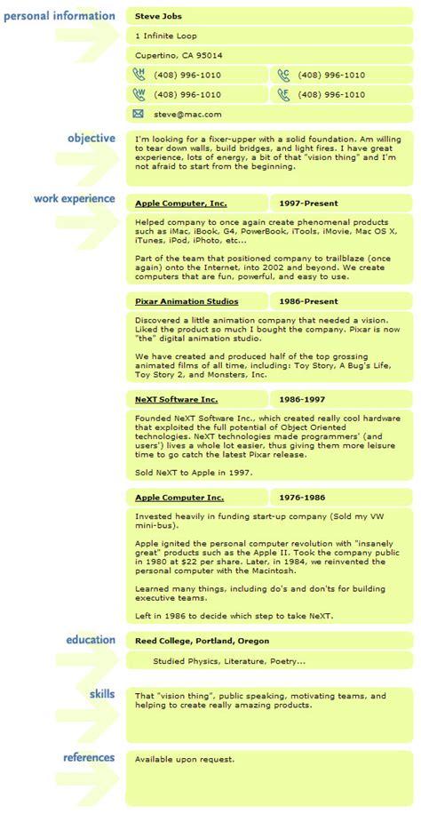resume of steve the apple geek007 s
